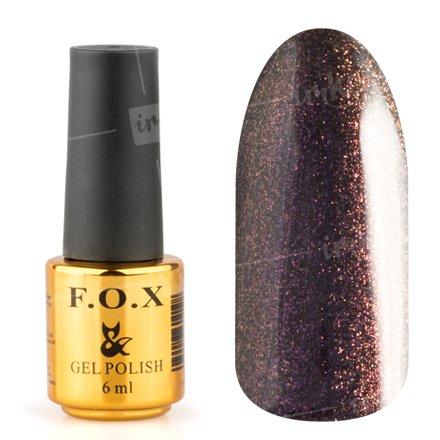 F.O.X, Гель-лак - Pigment №095 (6 ml.)F.O.X<br>Гель-лак черный, с фиолетовым микро-шиммером, плотный<br>