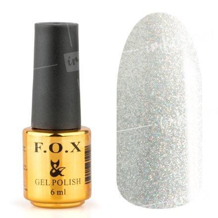 F.O.X, Гель-лак - Pigment №109 (6 ml.)F.O.X<br>Гель-лак серебряный голографик, плотный<br>