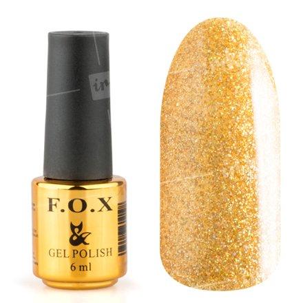 F.O.X, Гель-лак - Pigment №110 (6 ml.)F.O.X<br>Гель-лак золотой голографик, плотный<br>