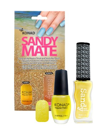 Konad, Песочный лак Sandy Mate YellowЛаки с эффектом песка Konad<br><br>