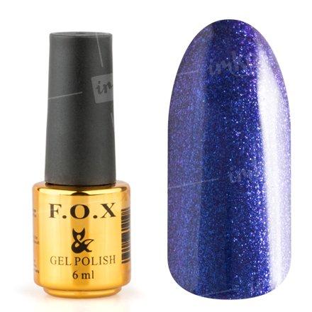 F.O.X, Гель-лак - Pigment №143 (6 ml.)F.O.X<br>Гель-лак полуночно-синий с микроблеском, плотный<br>