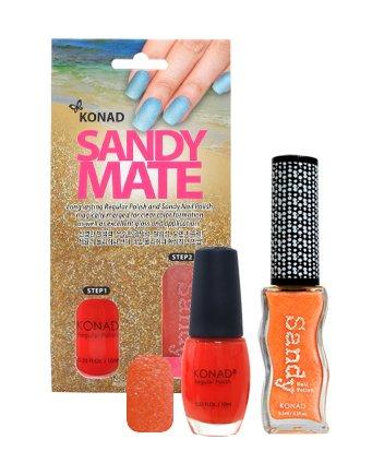 Konad, Песочный лак Sandy Mate TangerineЛаки с эффектом песка Konad<br><br>