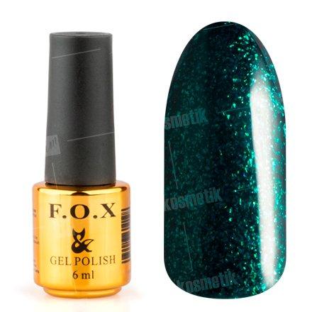 F.O.X, Гель-лак - Pigment №164 (6 ml.)F.O.X<br>Гель-лак темный изумруд, с блестками, плотный<br>