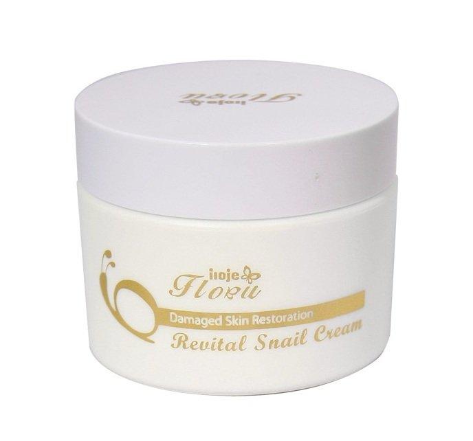 Konad, Экстракт улитки 98% Snail Cream, 50 млЛосьоны и крема Konad<br>Восстанавливающий крем для лица iloje Flobu Revital snail cream помогает в борьбе против морщин!<br>