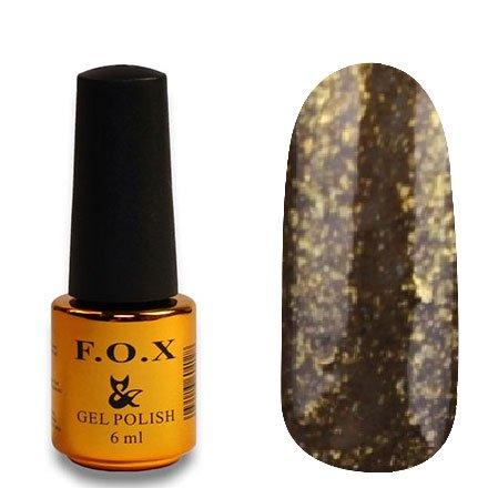 F.O.X, Гель-лак - Pigment №275 (6 ml.)F.O.X<br>Гель-лак коричневый, с золотой слюдой, плотный<br>