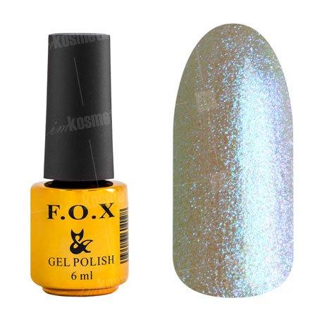 F.O.X, Гель-лак - French №713 (6 ml.)F.O.X<br>Гель-лак жемчужный, с голубым микроблеском, полупрозрачный<br>