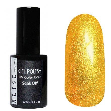 BLISE, Гель-лак - Золото с микроблеском №003 (12 ml.)BLISE<br>Гель-лак золотой, с микроблеском, плотный<br>