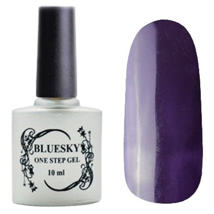 Bluesky, One Step Gel цвет № 010Однофазный Bluesky<br>Однофазный гель-лак,баклажаново-синий, без блесток и перламутра, плотный.<br>