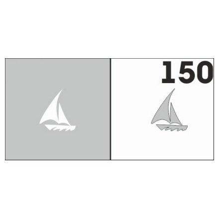 AIRnails, Трафарет №150Трафареты<br>Набор многоразовых клеевых трафаретов для аэрографии на ногтях, 6шт/1уп<br>