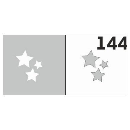 AIRnails, Трафарет №144Трафареты<br>Набор многоразовых клеевых трафаретов для аэрографии на ногтях, 6шт/1уп<br>