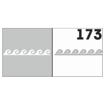 AIRnails, Трафарет №173Трафареты<br>Набор многоразовых клеевых трафаретов для аэрографии на ногтях, 6шт/1уп<br>