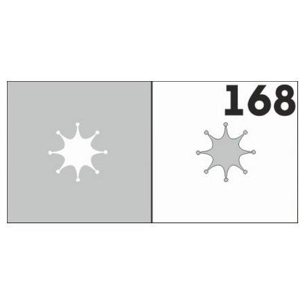 AIRnails, Трафарет №168Трафареты<br>Набор многоразовых клеевых трафаретов для аэрографии на ногтях, 6шт/1уп<br>