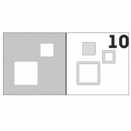 AIRnails, Трафарет №10Трафареты<br>Набор многоразовых клеевых трафаретов для аэрографии на ногтях, 6шт/1уп<br>
