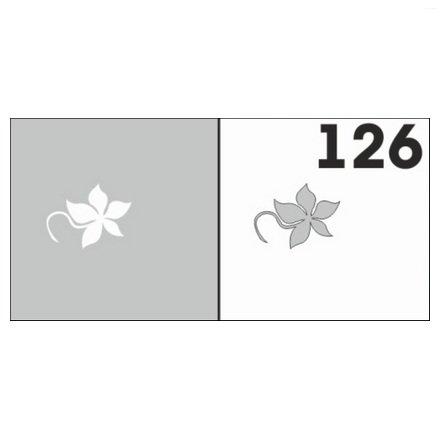 AIRnails, Трафарет №126Трафареты<br>Набор многоразовых клеевых трафаретов для аэрографии на ногтях, 6шт/1уп<br>