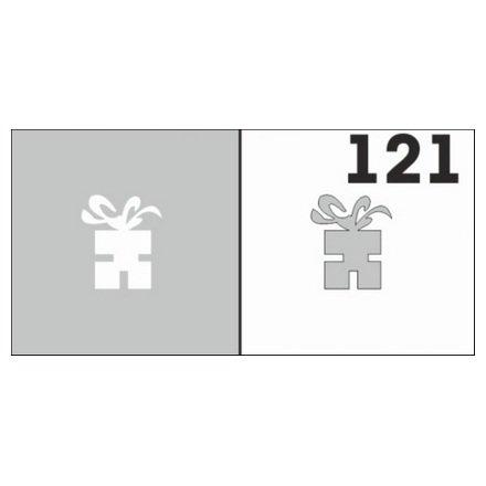 AIRnails, Трафарет №121Трафареты<br>Набор многоразовых клеевых трафаретов для аэрографии на ногтях, 6шт/1уп<br>