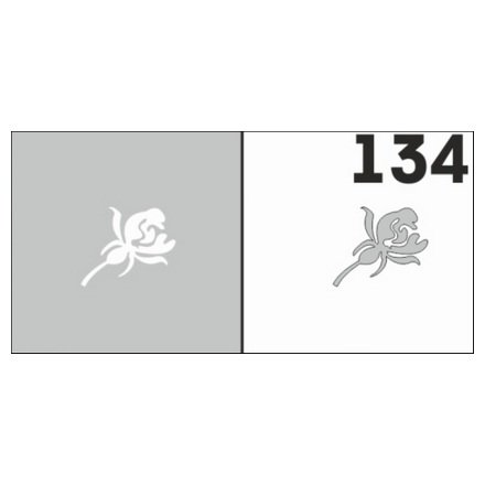 AIRnails, Трафарет №134Трафареты<br>Набор многоразовых клеевых трафаретов для аэрографии на ногтях, 6шт/1уп<br>