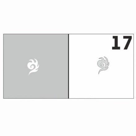 AIRnails, Трафарет №17Трафареты<br>Набор многоразовых клеевых трафаретов для аэрографии на ногтях, 6шт/1уп<br>