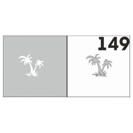 AIRnails, Трафарет №149Трафареты<br>Набор многоразовых клеевых трафаретов для аэрографии на ногтях, 6шт/1уп<br>