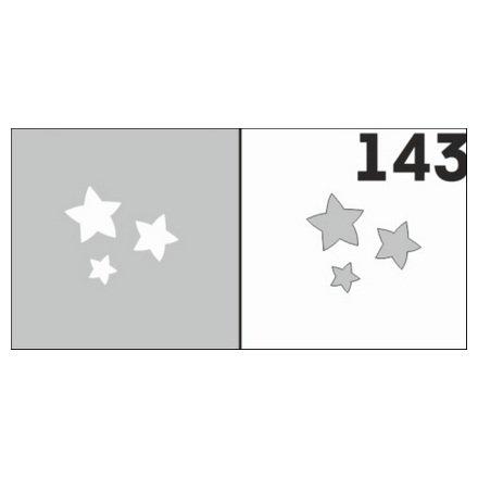 AIRnails, Трафарет №143Трафареты<br>Набор многоразовых клеевых трафаретов для аэрографии на ногтях, 6шт/1уп<br>