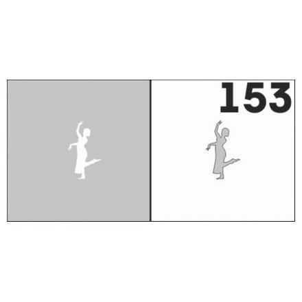 AIRnails, Трафарет №153Трафареты<br>Набор многоразовых клеевых трафаретов для аэрографии на ногтях, 6шт/1уп<br>