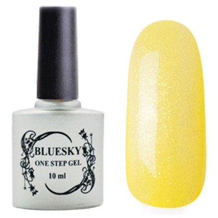 Bluesky, One Step Gel цвет № 026Однофазный Bluesky<br>Однофазный гель-лак,светло-желтый с блестками, полупрозрачный.<br>