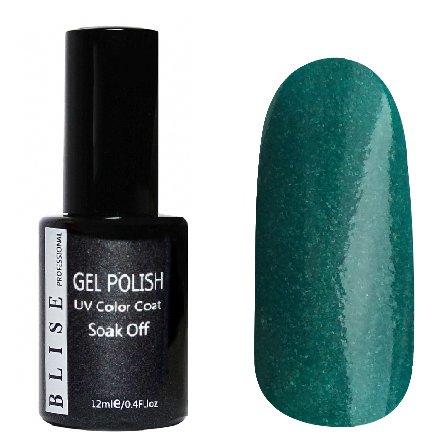 BLISE, Гель-лак - Изумрудно-зеленый с микроблеском №060 (12 ml.)BLISE<br>Гель-лак изумрудно-зеленый с микроблеском, плотный<br>