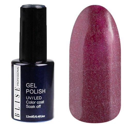 BLISE, Гель-лак - Пурпурно-вишневый с голографическими микроблестками №064 (12 ml.)BLISE<br>Гель-лак пурпурно-вишневыйс голографическими микроблестками,полупрозрачный<br>