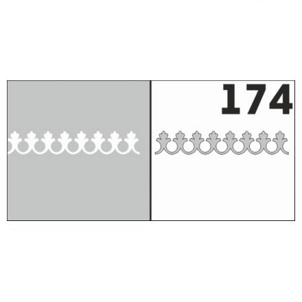 AIRnails, Трафарет №174Трафареты<br>Набор многоразовых клеевых трафаретов для аэрографии на ногтях, 6шт/1уп<br>