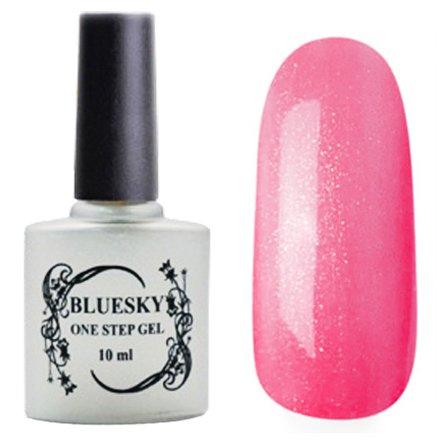 Bluesky One Step Gel, цвет № 028Однофазный Bluesky<br>Однофазный гель-лак,темно-розовый с блестками, полупрозрачный.<br>
