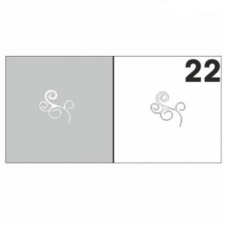 AIRnails, Трафарет №22Трафареты<br>Набор многоразовых клеевых трафаретов для аэрографии на ногтях, 6шт/1уп<br>