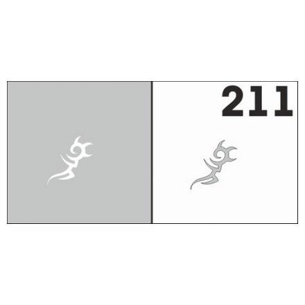 AIRnails, Трафарет №211Трафареты<br>Набор многоразовых клеевых трафаретов для аэрографии на ногтях, 6шт/1уп<br>