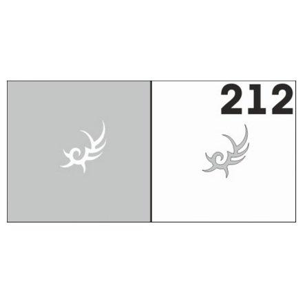 AIRnails, Трафарет №212Трафареты<br>Набор многоразовых клеевых трафаретов для аэрографии на ногтях, 6шт/1уп<br>