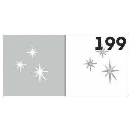 AIRnails, Трафарет №199Трафареты<br>Набор многоразовых клеевых трафаретов для аэрографии на ногтях, 6шт/1уп<br>
