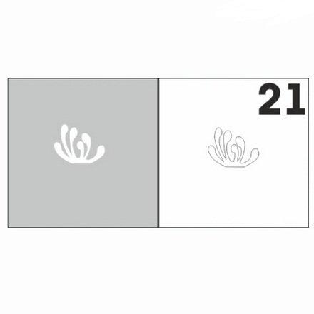 AIRnails, Трафарет №21Трафареты<br>Набор многоразовых клеевых трафаретов для аэрографии на ногтях, 6шт/1уп<br>