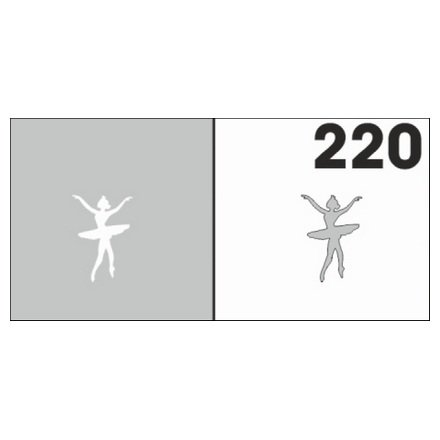 AIRnails, Трафарет №220Трафареты<br>Набор многоразовых клеевых трафаретов для аэрографии на ногтях, 6шт/1уп<br>