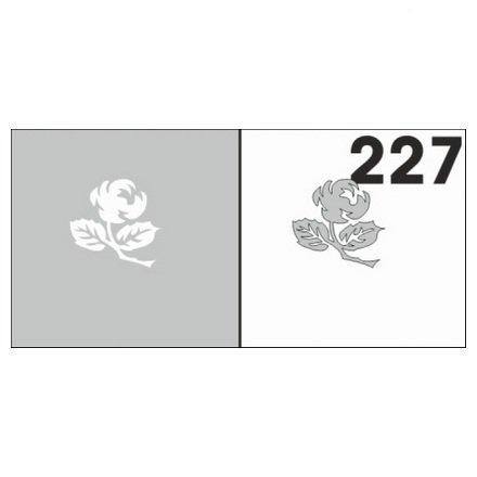 AIRnails, Трафарет №227Трафареты<br>Набор многоразовых клеевых трафаретов для аэрографии на ногтях, 6шт/1уп<br>