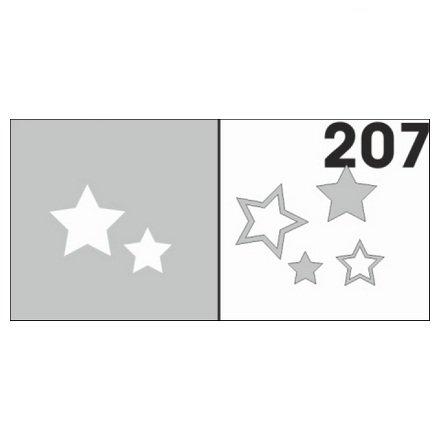 AIRnails, Трафарет №207Трафареты<br>Набор многоразовых клеевых трафаретов для аэрографии на ногтях, 6шт/1уп<br>