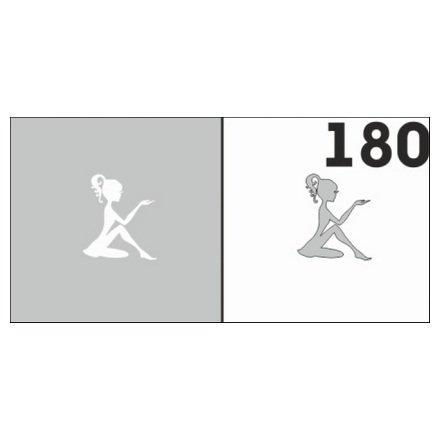 AIRnails, Трафарет №180Трафареты<br>Набор многоразовых клеевых трафаретов для аэрографии на ногтях, 6шт/1уп<br>