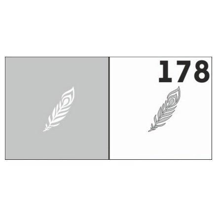 AIRnails, Трафарет №178Трафареты<br>Набор многоразовых клеевых трафаретов для аэрографии на ногтях, 6шт/1уп<br>