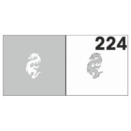 AIRnails, Трафарет №224Трафареты<br>Набор многоразовых клеевых трафаретов для аэрографии на ногтях, 6шт/1уп<br>