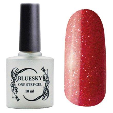 Bluesky, One Step Gel цвет № 033Однофазный Bluesky<br>Однофазный гель-лак, фиолетово-коричневый с блестками, плотный.<br>