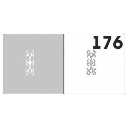 AIRnails, Трафарет №176Трафареты<br>Набор многоразовых клеевых трафаретов для аэрографии на ногтях, 6шт/1уп<br>