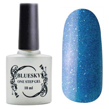 Bluesky, One Step Gel цвет № 035Однофазный Bluesky<br>Однофазный гель-лак, светло-синий с блестками, плотный.<br>