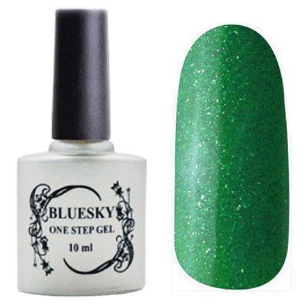 Bluesky One Step Gel, цвет № 036Однофазный Bluesky<br>Однофазный гель-лак, изумрудный с блестками, плотный.<br>