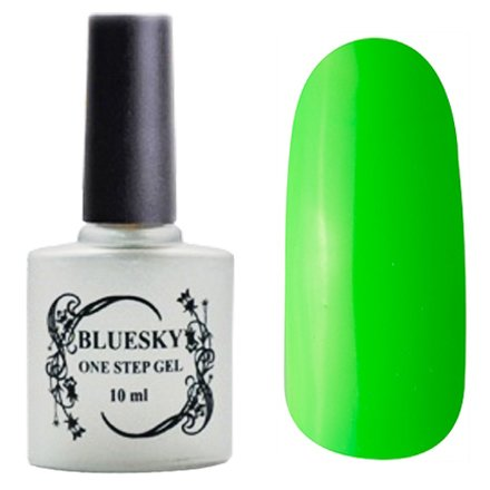 Bluesky One Step Gel, цвет № 041Однофазный Bluesky<br>Однофазный гель-лак, ярко-зеленый, полупрозрачный.<br>