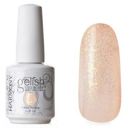 01604 Close Your Fingers and Cross Your Eyes Harmony GelishHarmony Gelish<br>Оранжевый полупрозрачный с золотыми блестками<br>