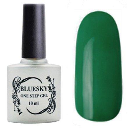 Bluesky, One Step Gel цвет № 044Однофазный Bluesky<br>Однофазный гель-лак, темно-зеленый, плотный.<br>