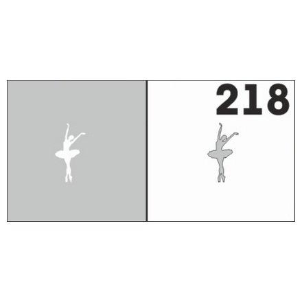 AIRnails, Трафарет №218Трафареты<br>Набор многоразовых клеевых трафаретов для аэрографии на ногтях, 6шт/1уп<br>