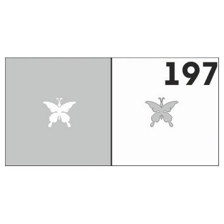 AIRnails, Трафарет №197Трафареты<br>Набор многоразовых клеевых трафаретов для аэрографии на ногтях, 6шт/1уп<br>