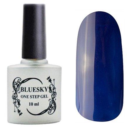 Bluesky, One Step Gel цвет № 048Однофазный Bluesky<br>Однофазный гель-лак, чернильно-синий, плотный<br>